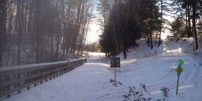 winter trail signs