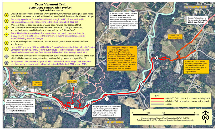 map of trail project