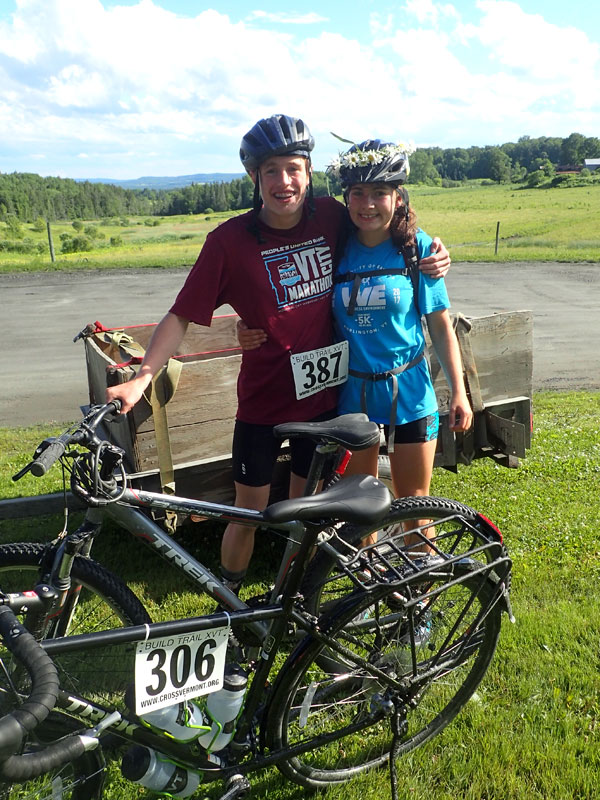 two bike riders complete 30 mile ride