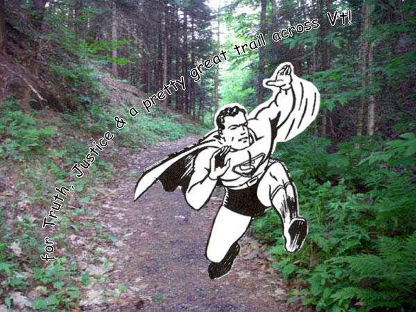 superman running on trail