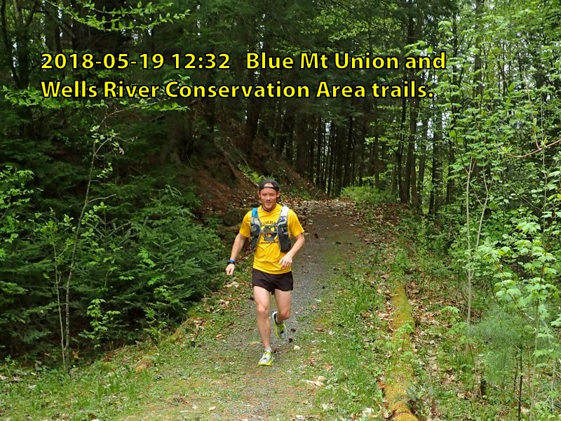 Rob Rives runs across Vt