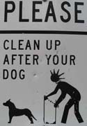 clean up after dog sign